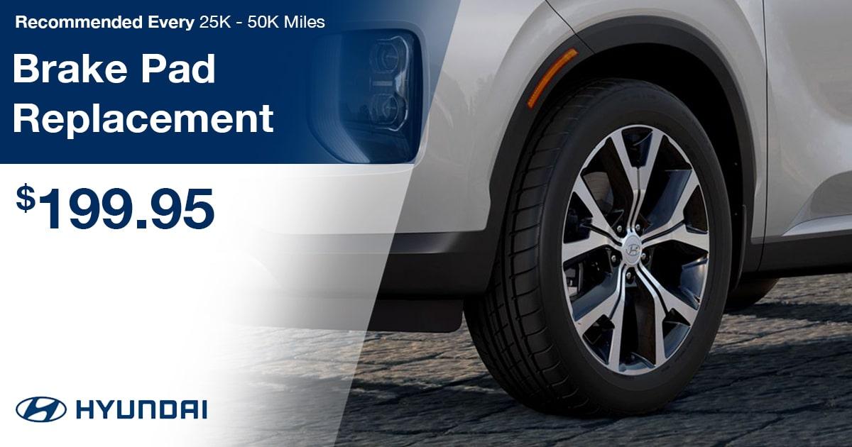 Hyundai Brake Pad Replacement Service Special Coupon