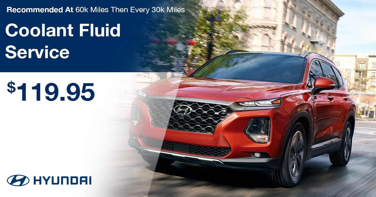 Hyundai Coolant Fluid Service Special Coupon