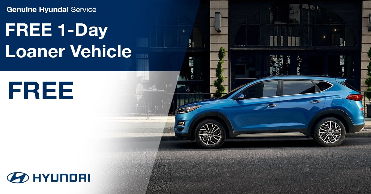 Hyundai FREE 1-Day Loaner Vehicle Service Special Coupon