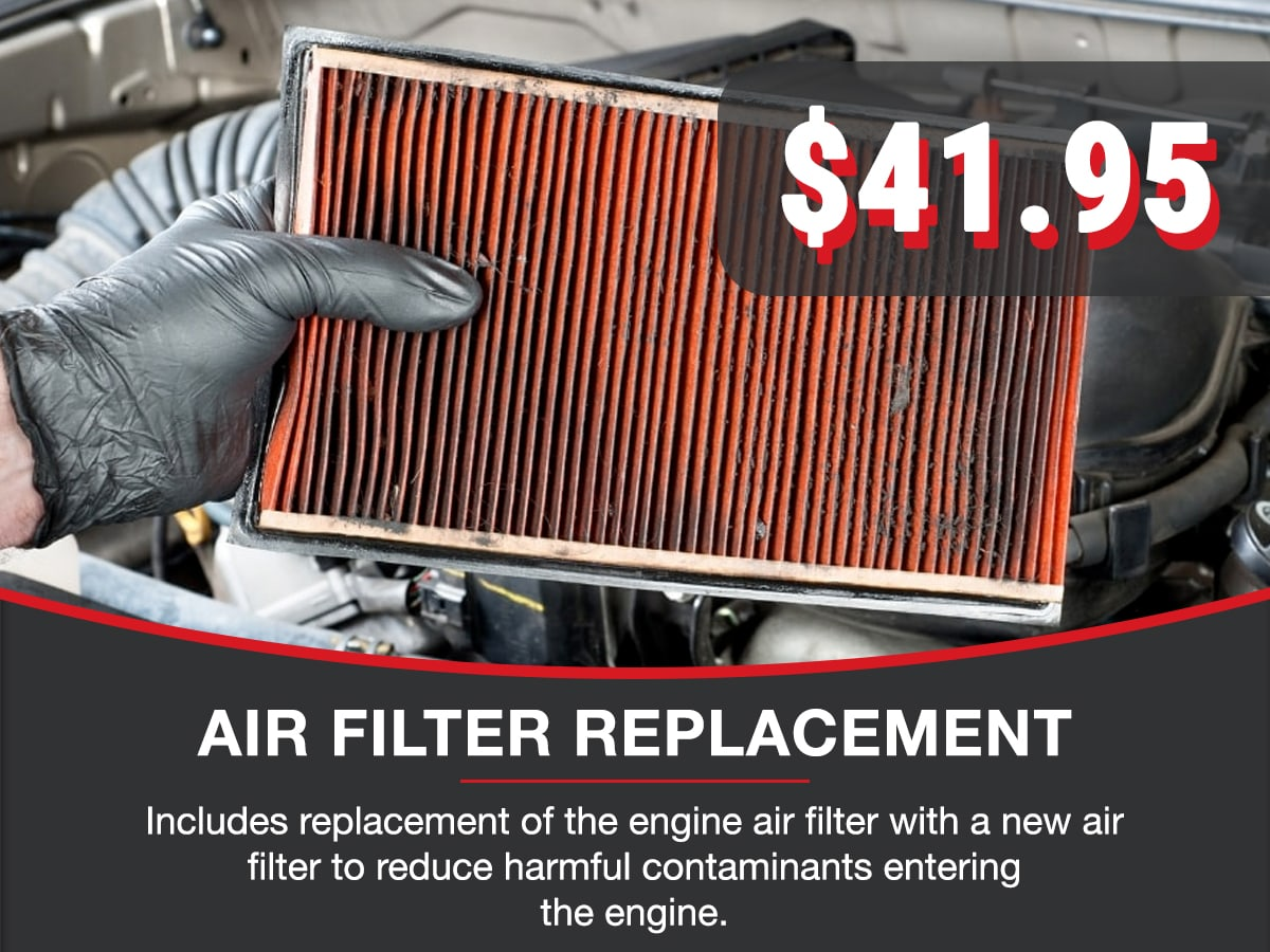 Air Filter Replacement Service Special Coupon
