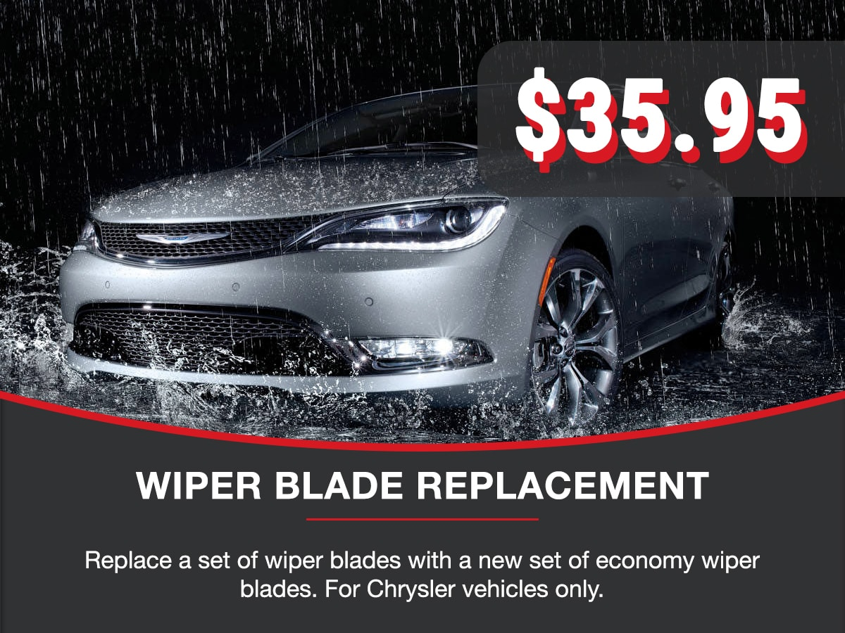 Wiper Blade Replacement Service Special Coupon