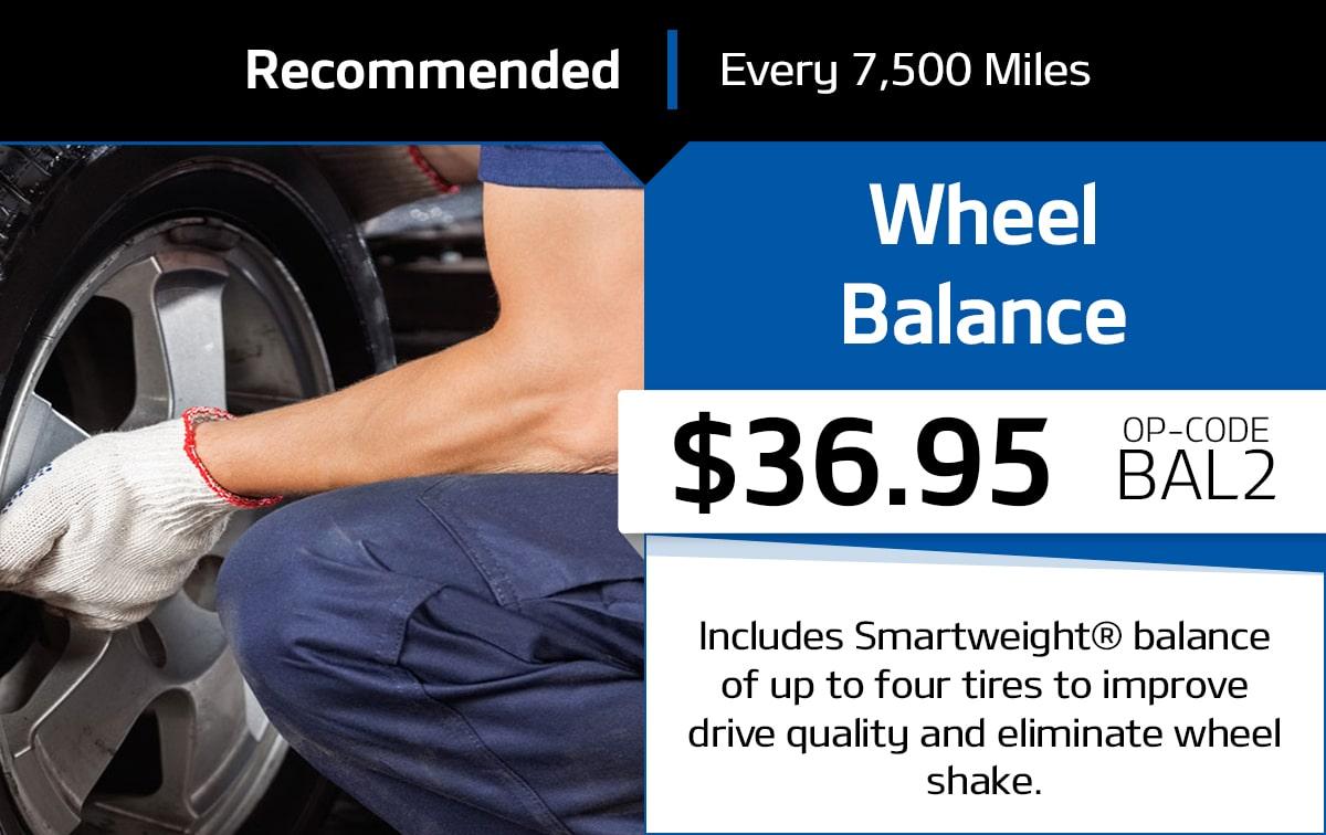 Wheel Balance Service Special Coupon