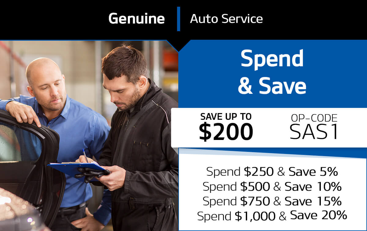 Spend & Save Service Special Coupon