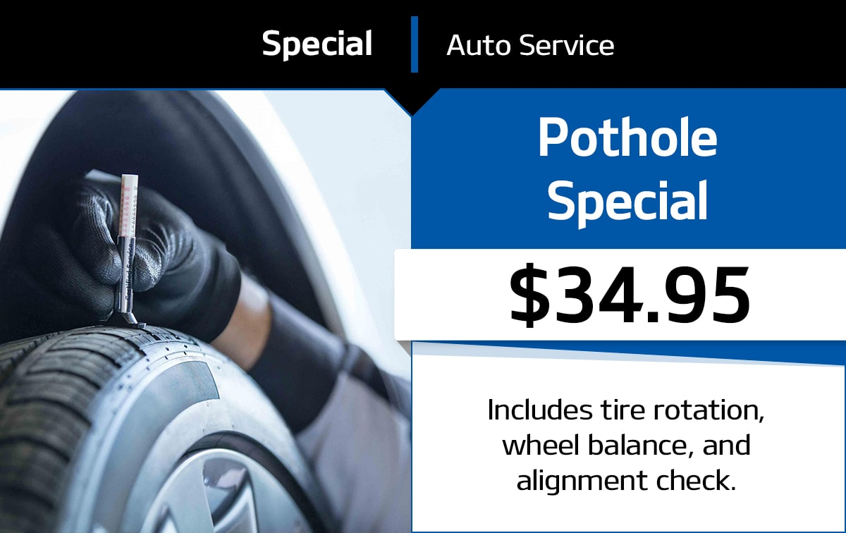 Pot Hole Service Special Coupon