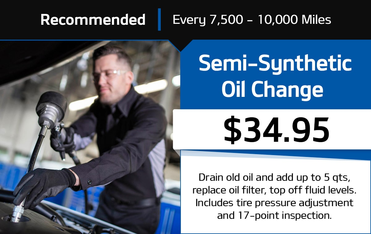 Semi-Synthetic Oil Change Service Special Coupon