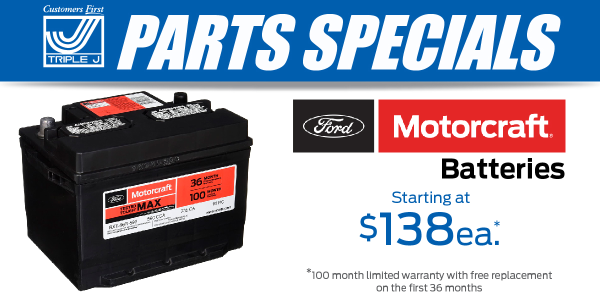 Car, Truck or SUV Ford Motorcraft Battery Special Coupon
