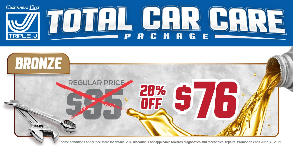 Car, Truck or SUV Bronze Package Change Service Special Coupon
