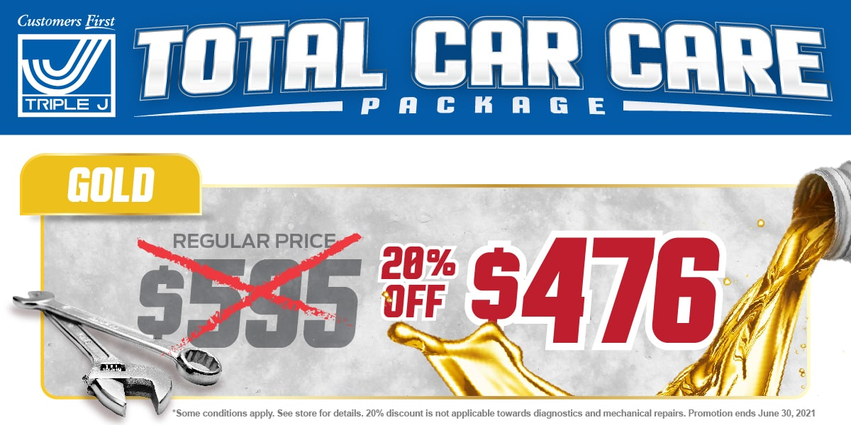 Car, Truck or SUV Gold Package Change Service Special Coupon