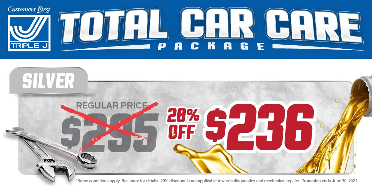 Car, Truck or SUV Silver Package Change Service Special Coupon