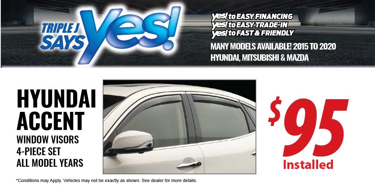 Hyundai Accent Window Visors Service Special Coupon