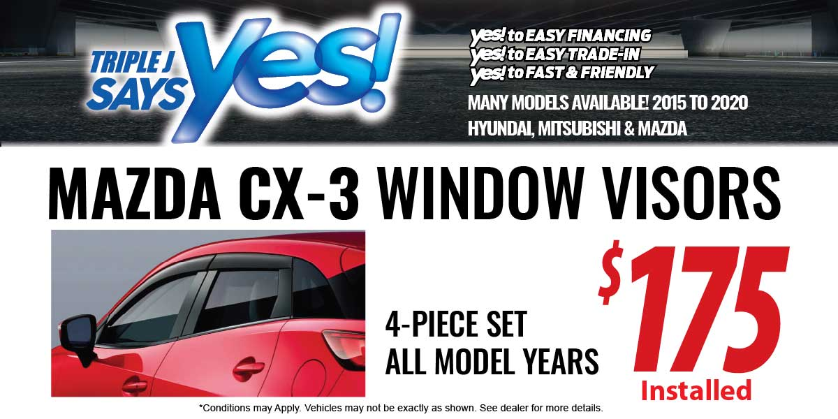 Mazda CX-3 Window Visors Service Special Coupon