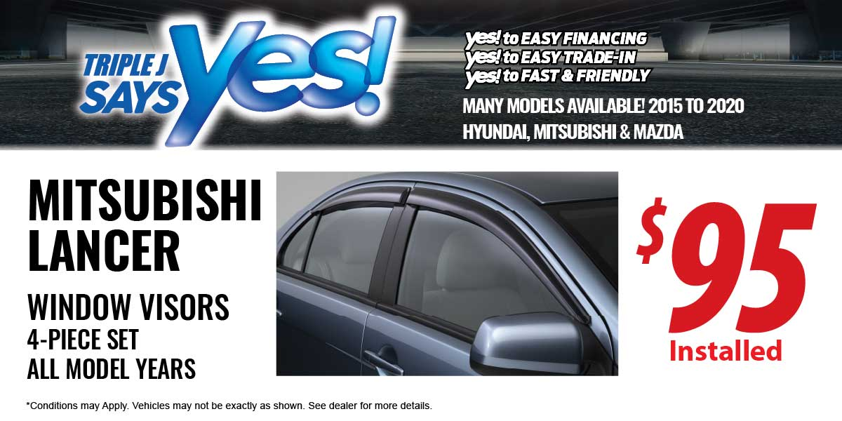Mitsubishi Lancer Window Visors Service Special Coupon