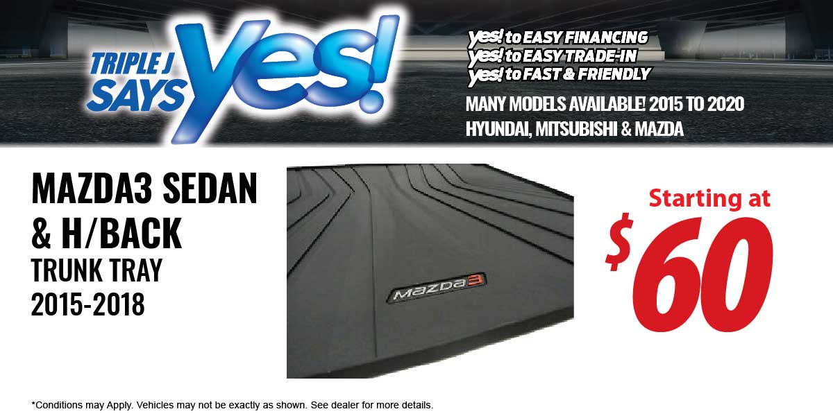 Mazda3 Trunk Tray Service Special Coupon