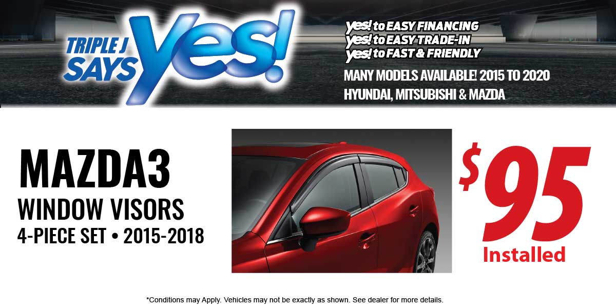 Mazda3 Window Visors Service Special Coupon