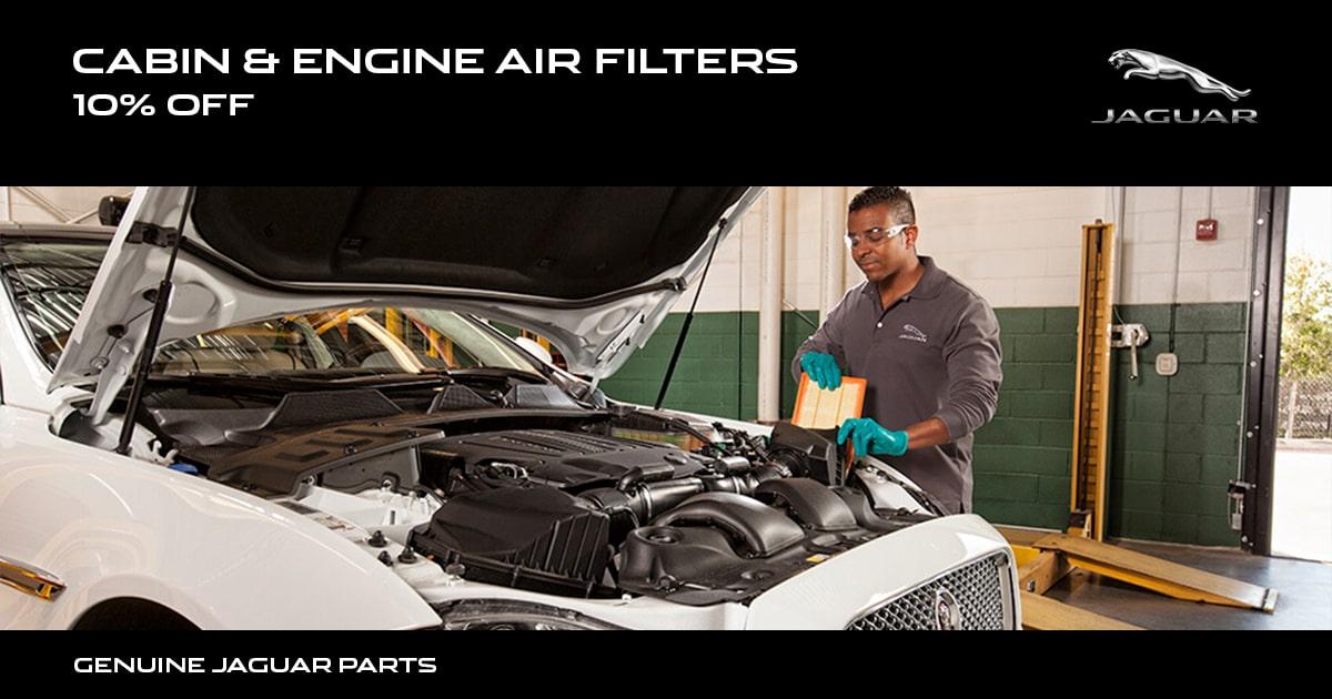 Jaguar Cabin & Engine Air Filters Special Coupon