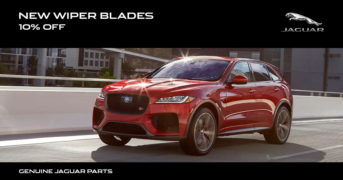 Jaguar New Wiper Blades Special Coupon