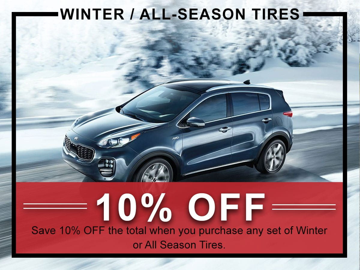 Winter Tire Service Special Coupon