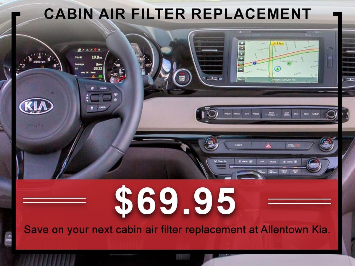 Kia Cabin Air Filter Service Coupon