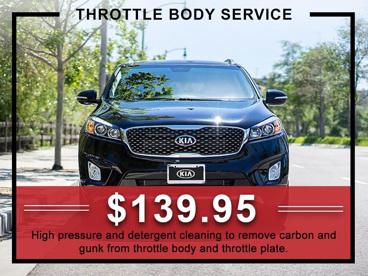 Kia Throttle Body Service Coupon