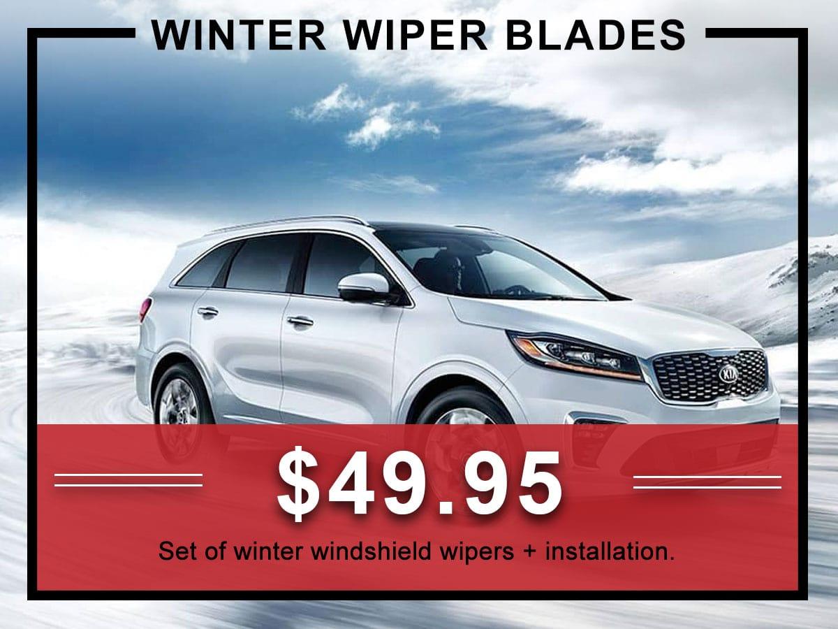 Kia Winter Windshield Wiper Service Special Coupon