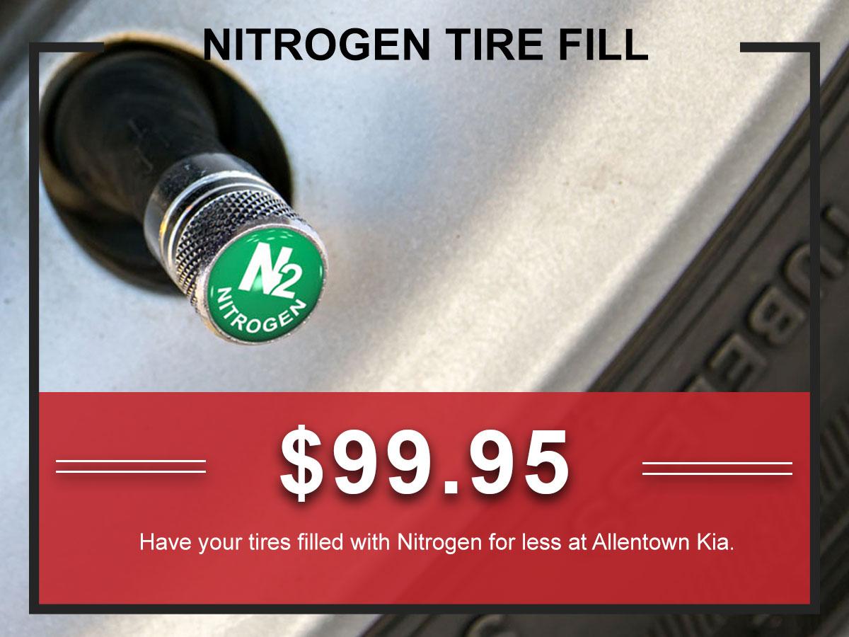 Kia Nitrogen Tire Fill Service Coupon