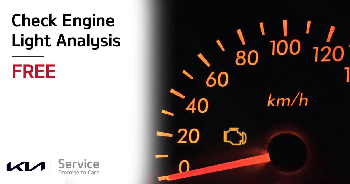 Kia Check Engine Light Analysis Service Special Coupon