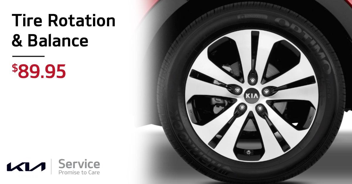 Kia Tire Rotation & Balance Service Special Coupon