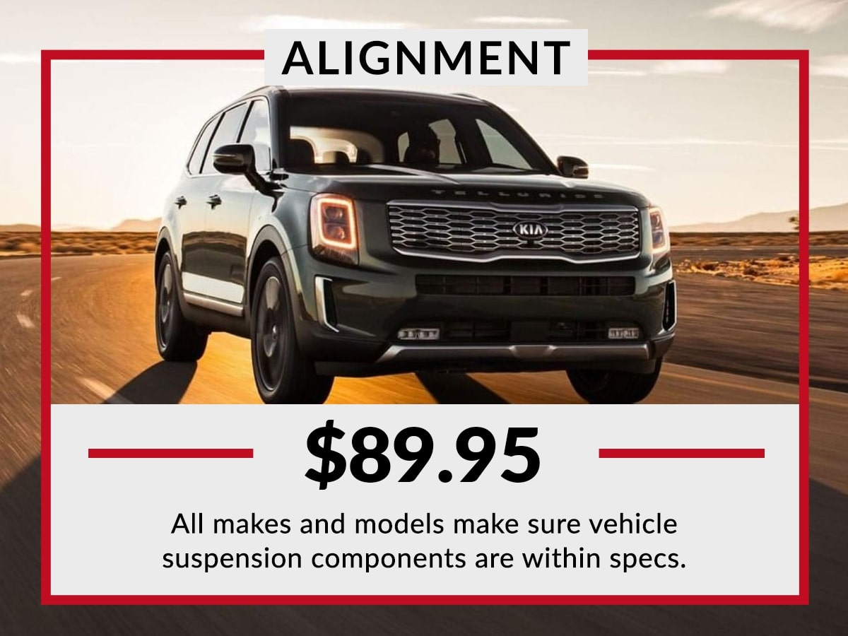 Kia Alignment Services Special Coupon