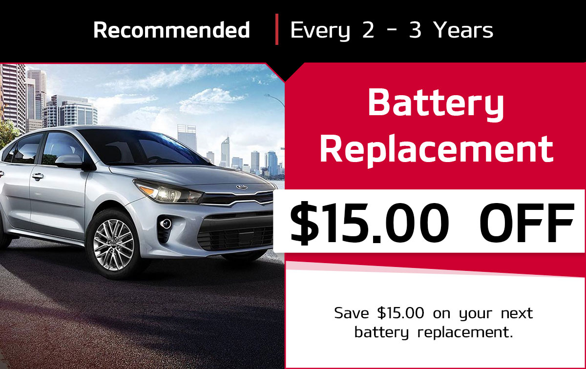 KIA Battery Replacement Service Special Coupon