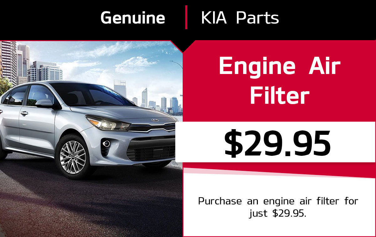 Kia Engine Air Filter Replacement Service Special Coupon