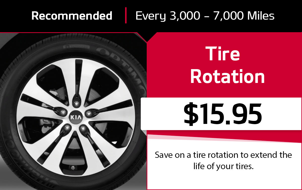KIA Tire Rotation Service Special Coupon