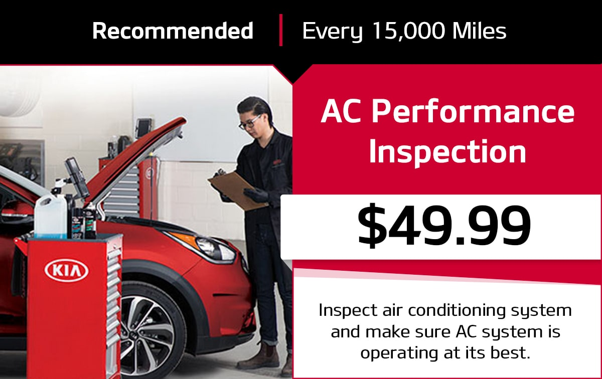KIA Air Conditioning Service Special Coupon