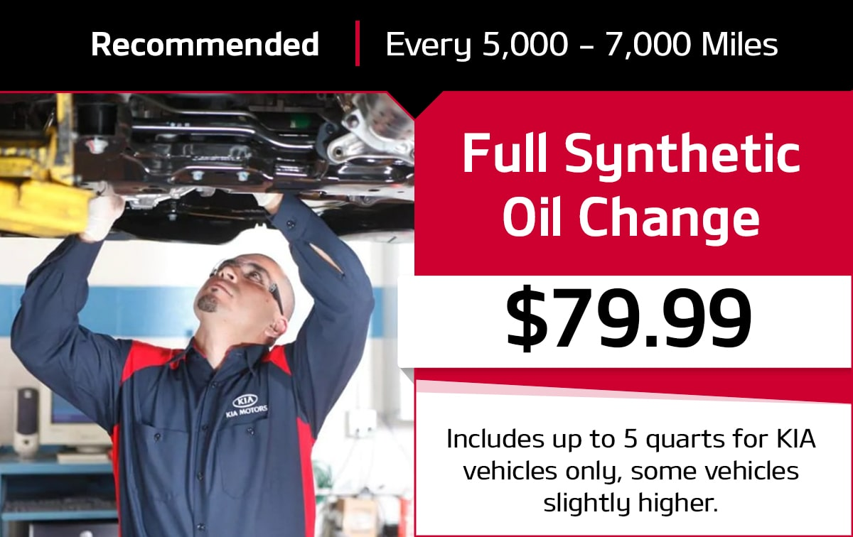 Full Synthetic Oil & Filter Change Service Special Coupon