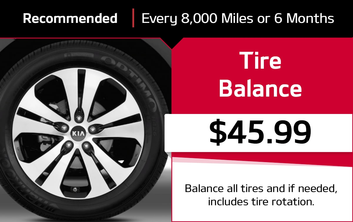 Tire Balance Service Special Coupon