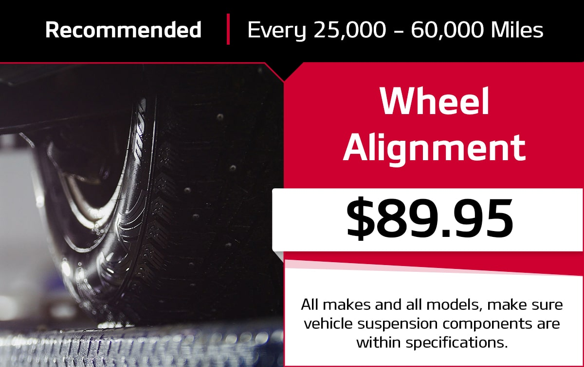 KIA Wheel Alignment Special Coupon