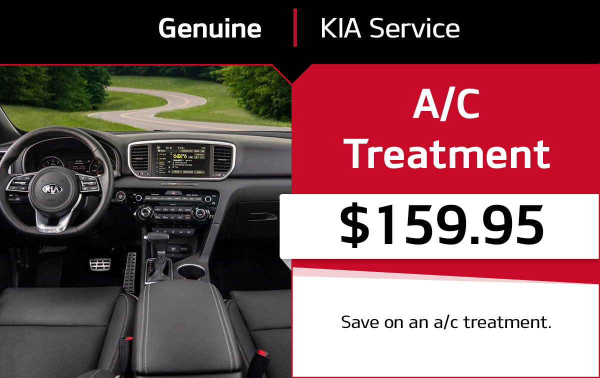 Kia A/C Treatment Service Special Coupon