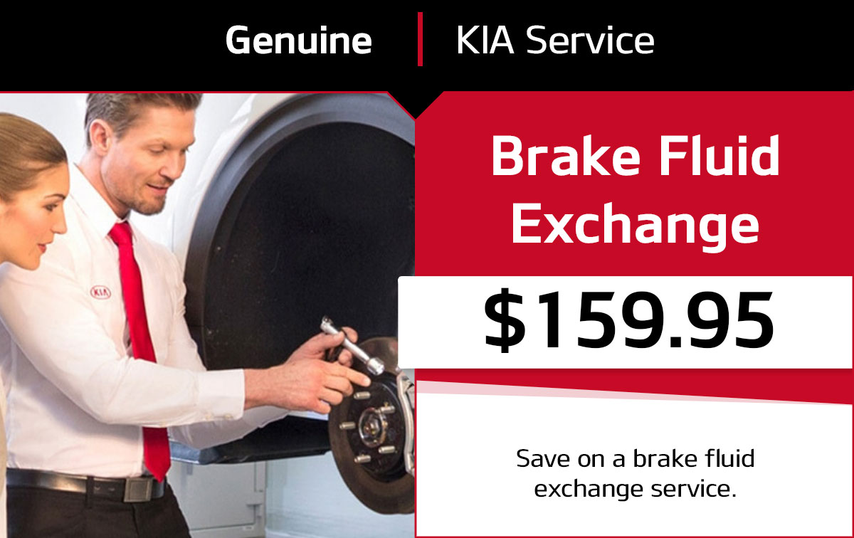 Kia Brake Fluid Exchange Service Special Coupon