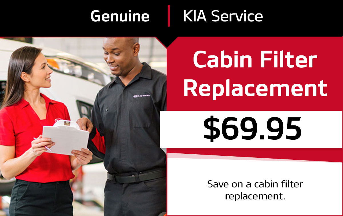 Kia Cabin Air Filter Replacement Service Special Coupon