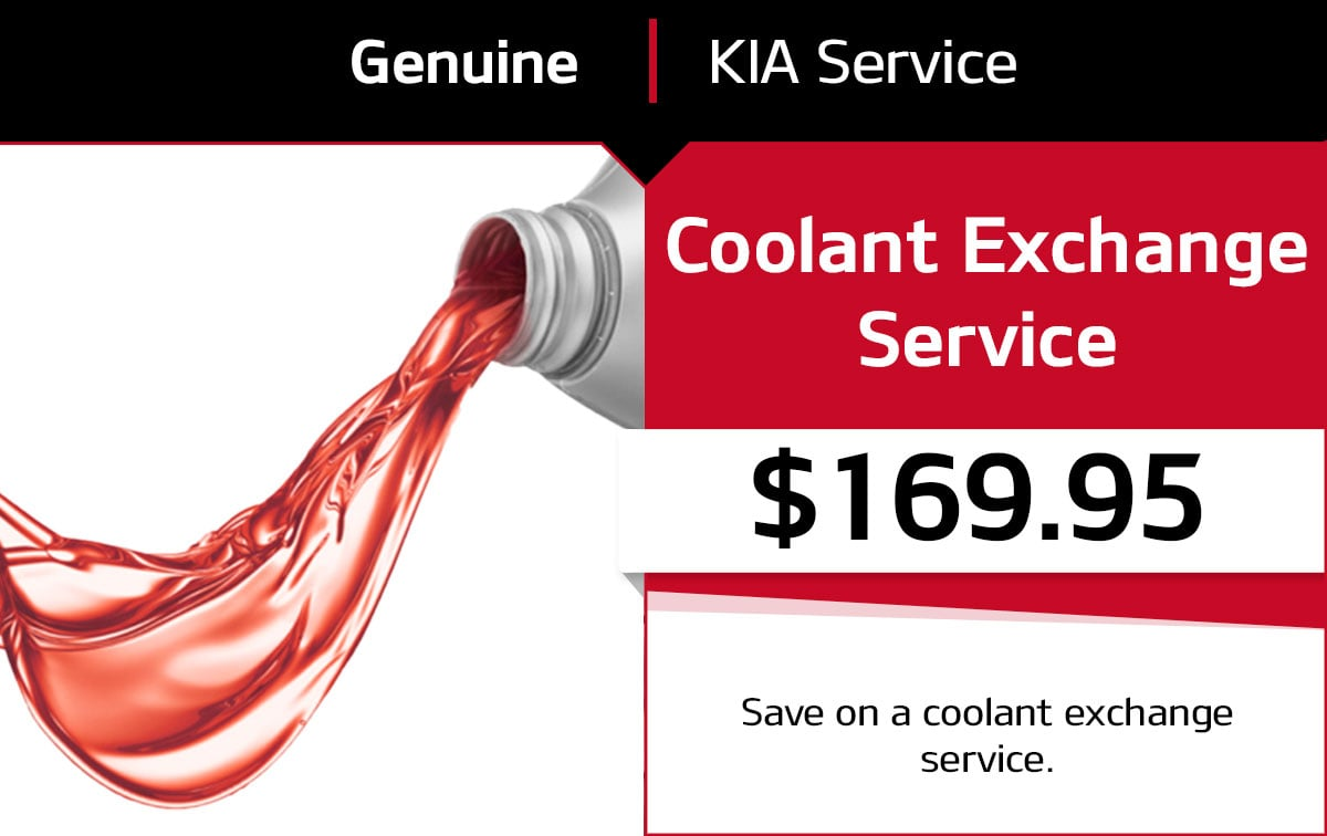 Kia Coolant Exchange Service Special Coupon