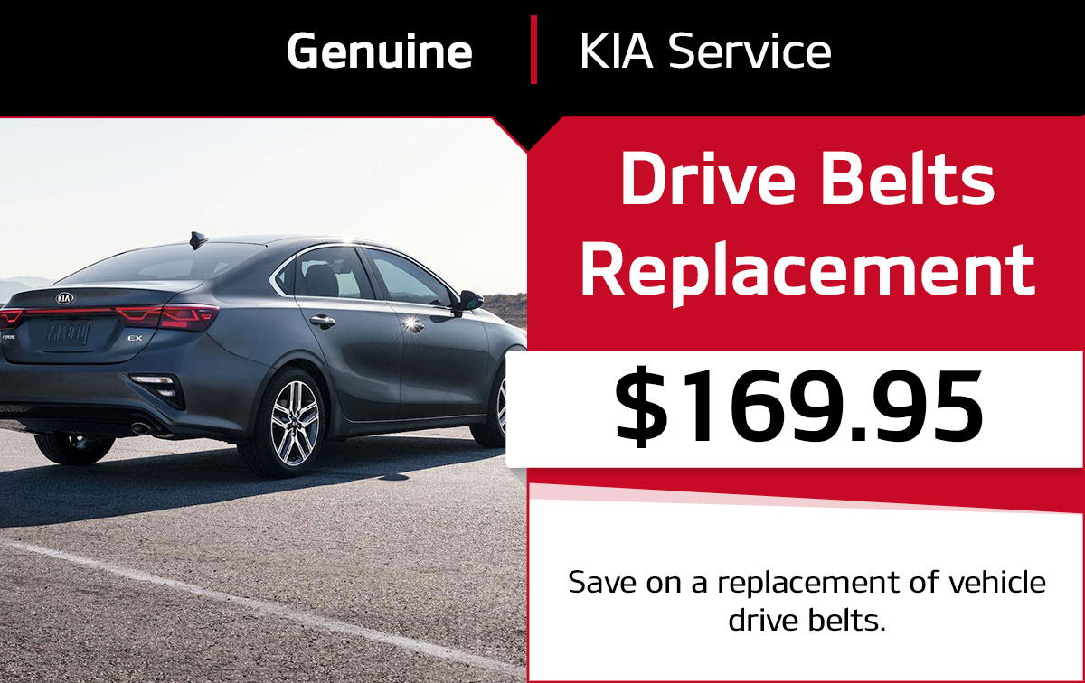 Kia Drive Belts Replacement Service Special Coupon