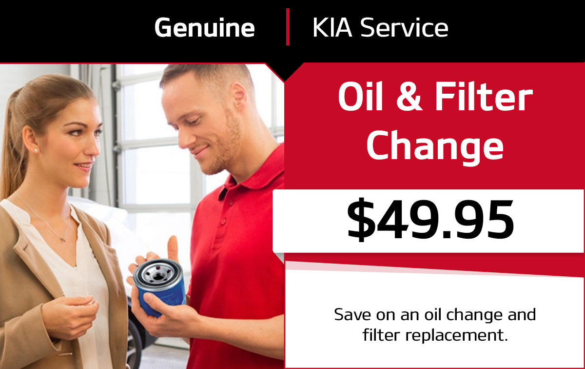 Kia Oil & Filter Change Service Special Coupon