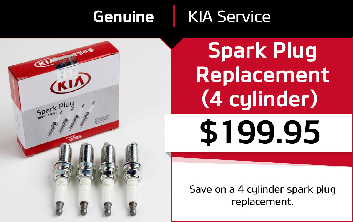Kia Spark Plug Replacement (4 cylinder) Service Special Coupon