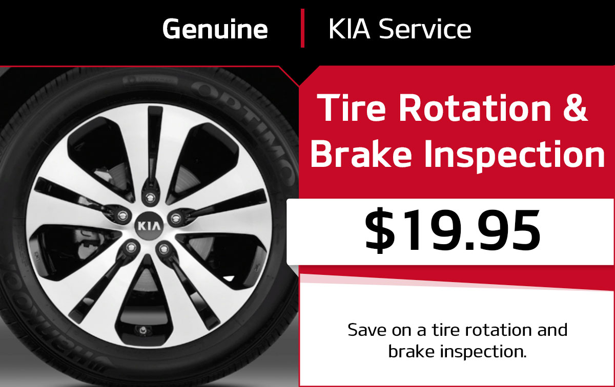 Kia Tire Rotation & Brake Inspection Service Special Coupon