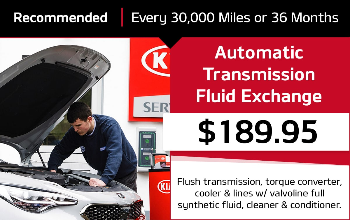 Kia Valvoline Automatic Transmission Fluid Exchange Service Special Coupon