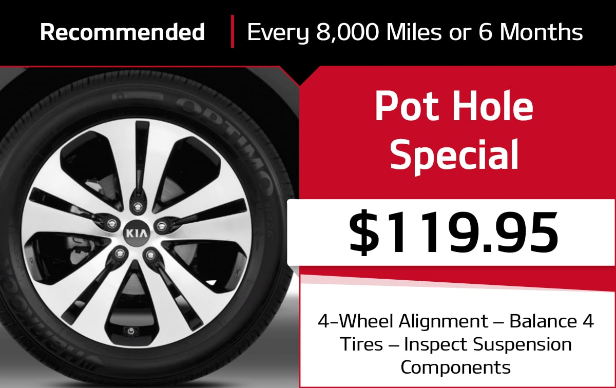 Kia Pot Hole Service Special Coupon