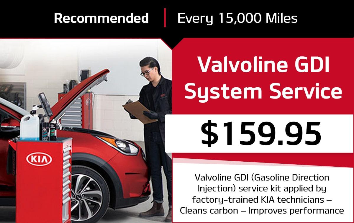 Kia Valvoline GDI System Service Special Coupon