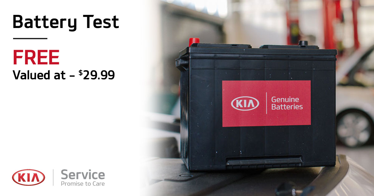 Kia Battery Test Service Special Coupon