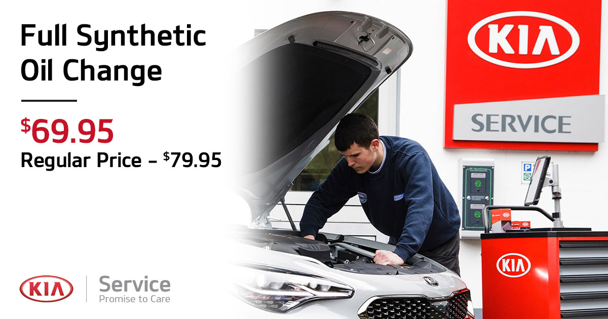 Kia Full Synthetic Oil & Filter Change Service Special Coupon