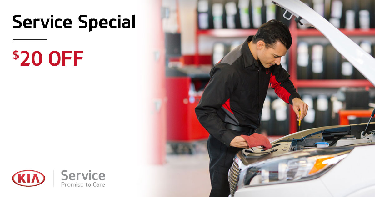 Kia $20.00 OFF Service Special Coupon