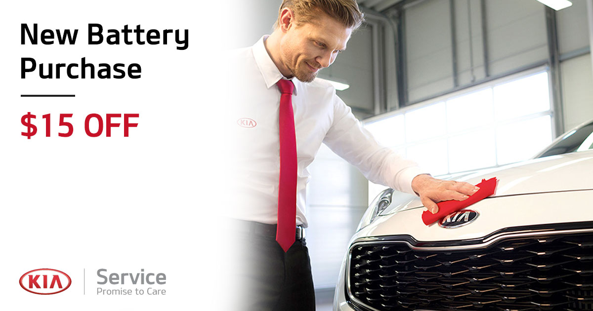 Kia New Battery Service Special Coupon